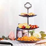 per Fruteros de 3 Pisos Creativos de Cocina Bnadejas de Almacenaje para Frutas y Aperitivos Estantes para Almacenaje de Estilo Nórdico