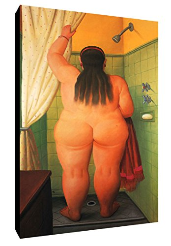 Quadro Botero intelaiato Pronto da Appendere cod. 48 cm 35x50 Stampa su Tela Canvas Vendita Falsi di Autore Il Negozio di Alex