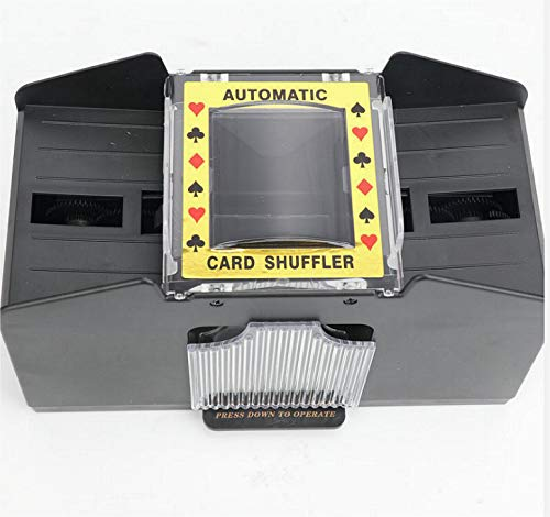 Avicii Fovever ZZ Automatic Poker Card Shuffler,1-2 Decks Poker Shuffles Card Shuffler Machine Battery-Operated Electric Shuffler for Home Party Club,Black (Black)