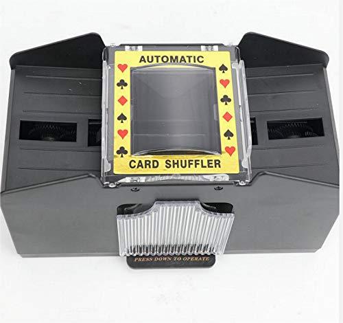 Avicii Fovever ZZ - Baraja de póquer automática, 1-2 cubiertas póker baraja de cartas baraja de la máquina de barandilla eléctrica con pilas para el club de fiesta en casa, color negro