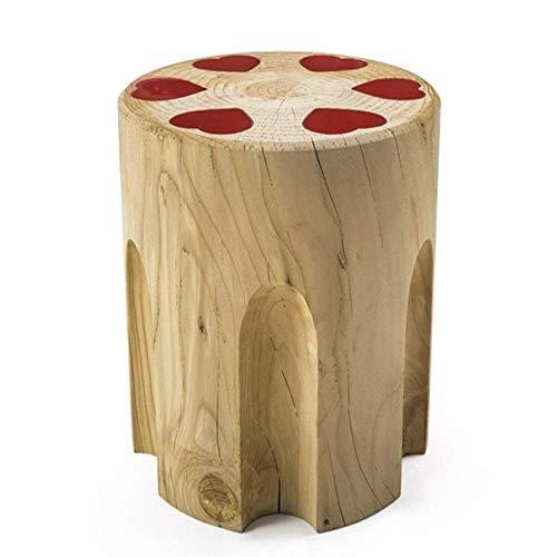 N/Z Home Equipment Furniture Decor Moderner Akzent Holz Beistelltisch Kaffee für Wohnzimmer Balkon Haus und Büro Schmaler Beistelltisch (Farbe: Natürliche Größe: 38x38x42cm)