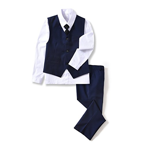Top tuxedo vest for boys white for 2021