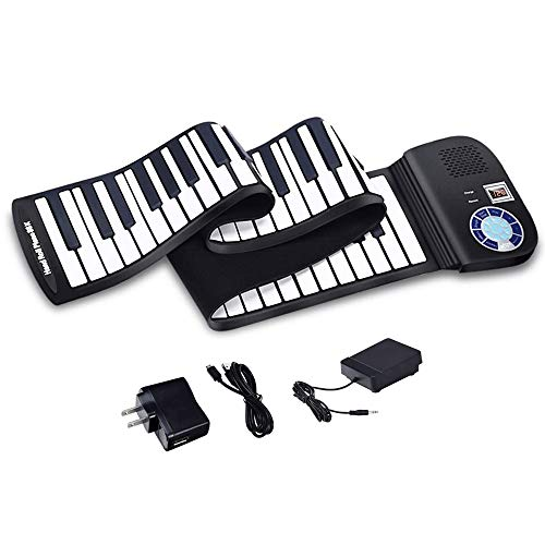 Read About HPCFYJ Roll up Piano Keyboard, Piano Keyboard 88 Keys Touch Sensitive Portable Keyboard w...