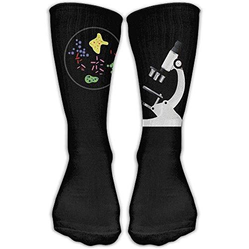 YuanHu Socken Mikroskop Suche Damen und Herren-Socken Fußball Socken Sport Schlauch Strümpfe Länge