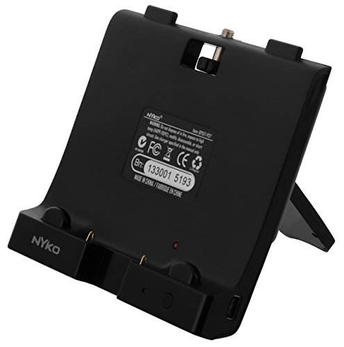 UBoost Zusatz-Akku für WiiU Gamepad mit Standfuss,schwarz [Edizione: Germania]