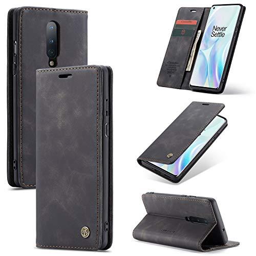 Caja del teléfono For Samsung + 1 8PRO tirón de la caja del teléfono, TPU Cuero, Usado Samsung1 + 8 con ranura for tarjetas, anti-caída magnético del caso de la carpeta del teléfono fino. Cubierta del