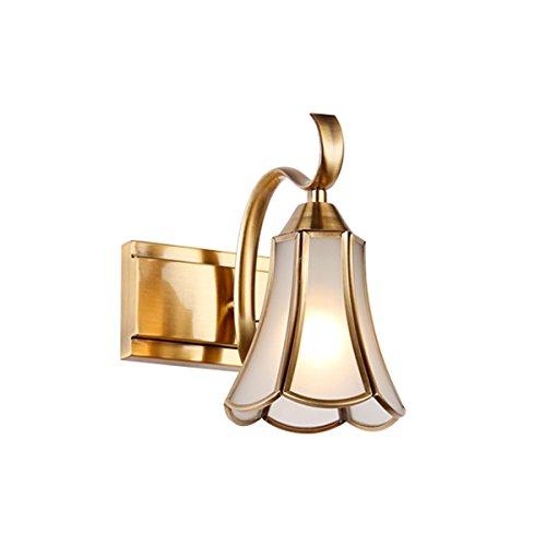 XinQing-Lámparas de Pared Lámpara de Pared de la Vendimia Europea Moderna Minimalista baño Espejo de baño llevó la lámpara del gabinete del Espejo, Bronce Amarillo