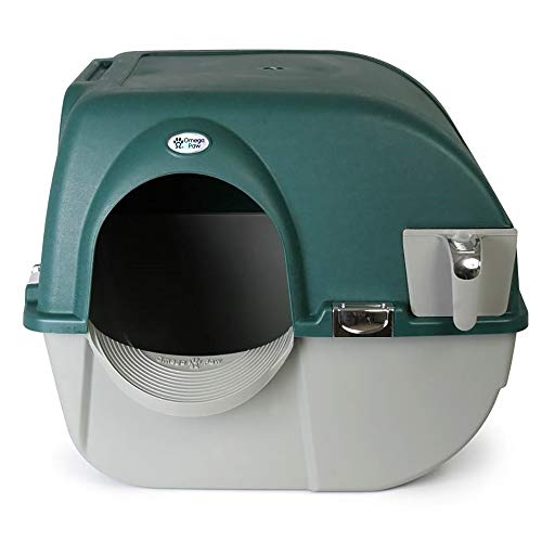 Omega Paw Roll'n Clean Unique No Scoop Self-Cleaning Indoor Home Cat...