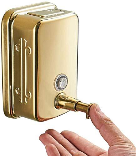 Long zeepdispenser badkamer 304 roestvrij Staal wandmontage handmatig gouden zeepdispenser shampooing douchegel fles handdesinfectiebox-500 ML