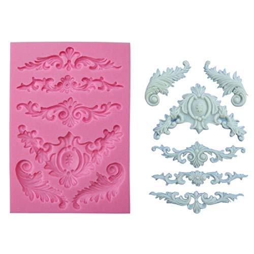 Yingwei Silicone Moulds Süßigkeiten Formen Werkzeuge DIY Food Grade Silicone Bake Mould Europäisches Muster Design (Stil 2)