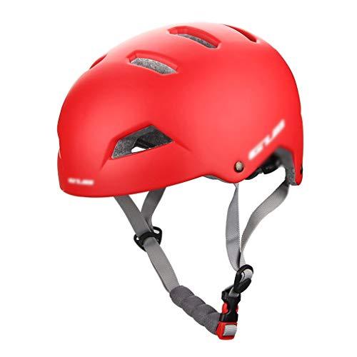 CXQBYNN Fahrradhelm, Erwachsener Miniatur Fahrradhelm Sport Outdoor Kletterhelm Schutzausrüstung Männer und Frauen Mountainbike Helm (Color : Red)