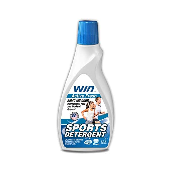 WIN Sports Detergent – Specially Formulated for Sweaty Workout Clothes –...