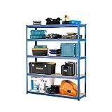 Racking Solutions - Estantería / Estante del garaje/ Sistema de almacenamiento de acero, cargas pesadas, capacidad de carga total 1375kg (5 niveles 1800mm Al x 1500mm An x 450mm Pr) + Envío gratis