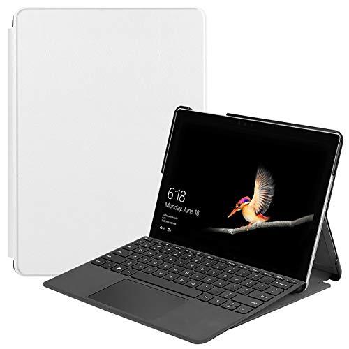 Lobwerk Hülle für Microsoft Surface Go 2-in-1 Tablet 10 Zoll (25,4 cm) Slim Hülle Etui mit Auto Sleep/Wake Funktion Weiß
