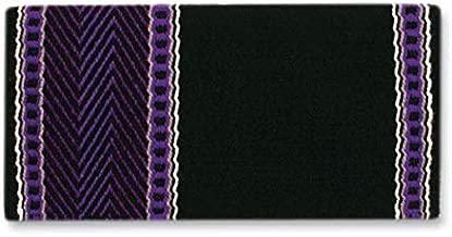 بطانية Mayatex Bar 8 Saddle Blanket, Black/Lilac/Purple/Ash/Cream