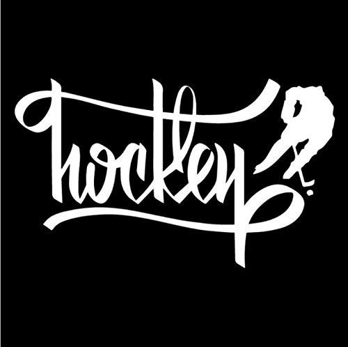 Auto Autoaufkleber Aufkleber Eishockey Sport Athlet Hockey Spieler Kunst Sport Auto Aufkleber Dekoration Vinyl Aufkleber 18.3CM * 10.7CM 2 Stk