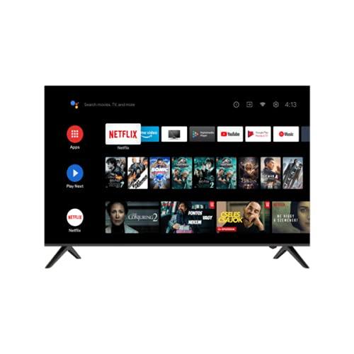 KAGIS U43S1UHD 108cm (43 Zoll) Monitor/TV ohne Tuner (4K Ultra HD, HDR, Kein Tuner, Smart-TV, Android TV 9, Fernbedienung mit Mikrofon, Video, Netflix und YouTube)