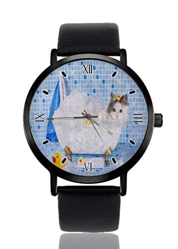 Reloj de pulsera para mujer con diseño de gato y pato, ultrafino, extremadamente simple,...