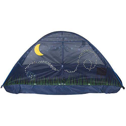Pacific Play Tents 2100 Kids Bed Tent with LED Lantern, Twin Bed