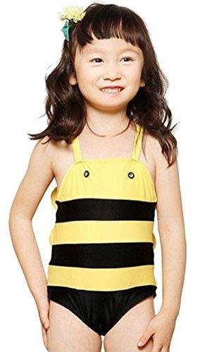 Demarkt Kinder Junge Mädchen Unisex Karikatur Biene Design Badeanzug Bademode Schwimmanzug Monokini Swimsuit (5T)