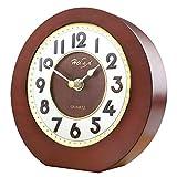 Cylficl ヨーロッパの簡単な純木の着席時計、枕元の無言の時計、居間の調査の机のオフィスの装飾の時計