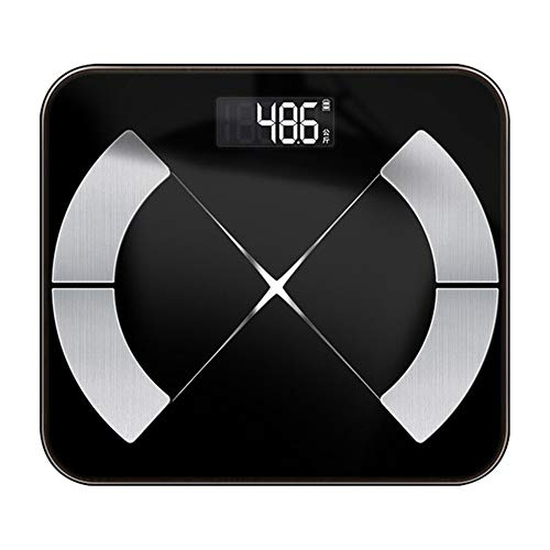 HAIRY Bluetooth-Scales Intelligent Floor Body Fat Scale Smart LED Display Body Weight Scales Muscle Mass BMI Digital Bathroom Scale