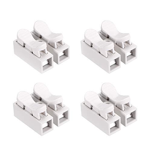 YIXISI 100PCS Connettori Molla, Morsettiera Terminale a Molla Rapida, Connettore Rapido, Collegamento Per Cablaggio Elettrico e Alimentazione Illuminazione -100PCS CH2