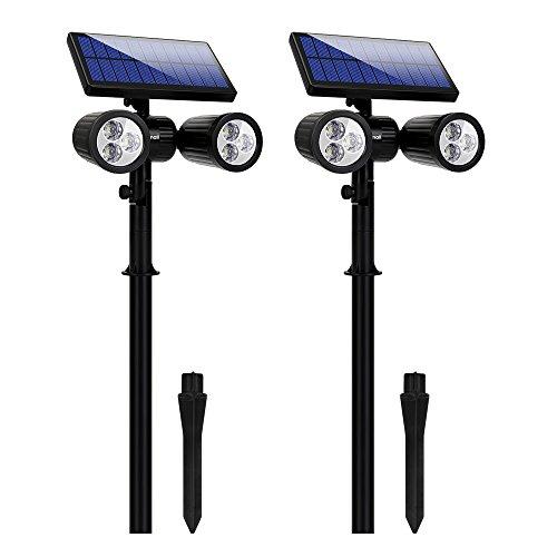 meilleurs projecteurs solaires 6 LED Lampe Solaire Lumière Solaire Projecteur