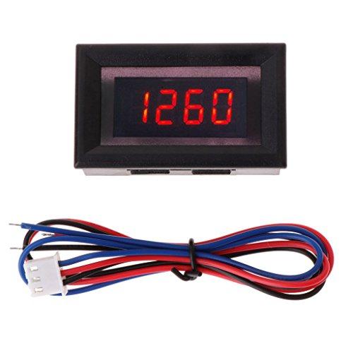 WE-WHLL Medidor de tacómetro Digital para Motocicleta y Coche con Alarma de sobretensión de batería