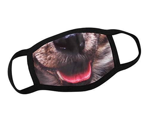 Alsino Mundschutz Hunde Motiv Mund- Nasenschutz Maske lustige Motive Mundschutzmasken Stoff waschbar & mit Filter - Gesichtsmaske Stoffmasken (Hund)