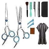 OVAREO Haarschere, Profi Haarschere Sets, Edelstahl Friseurscheren Friseurscheren aus Edelstahl zum Ausdünnen und Strukturieren, Modellieren Professionelle Friseur-Sets