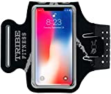 TRIBE Premium Running Armband & Phone Holder for iPhone X, Xs, Xs Max, Xr, 8, 7, 6, Plus...