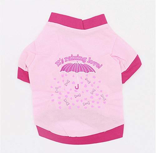 MUXIAND Zomer Huisdier Hond T-shirt Vest Kleding Paraplu Ontwerp Grappige Hond Kat Vets Shirt voor Kleine Honden Vest, M