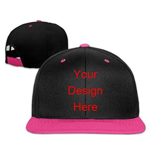 Edaona Custom Unisex Hip Hop Gorra de béisbol de ala plana Gorras de béisbol Sombreros para hombres mujeres Color contraste Rapero Snapback Sombrero Tamaño ajustable (rosa)