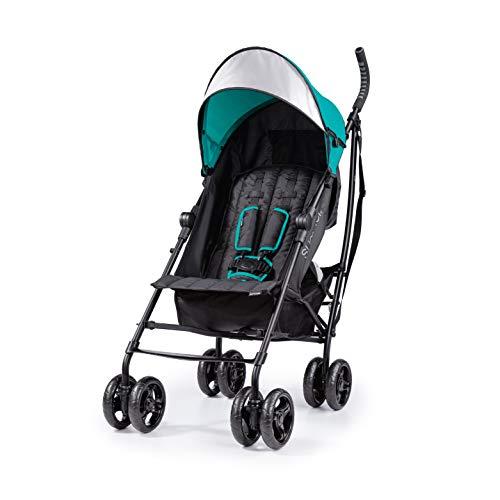 Summer 3Dlite Convenience Stroller, Teal – Lightweight Stroller with Aluminum Frame, Large Seat Area, 4 Position Recline, Extra Large Storage Basket – Infant Stroller for Travel and More