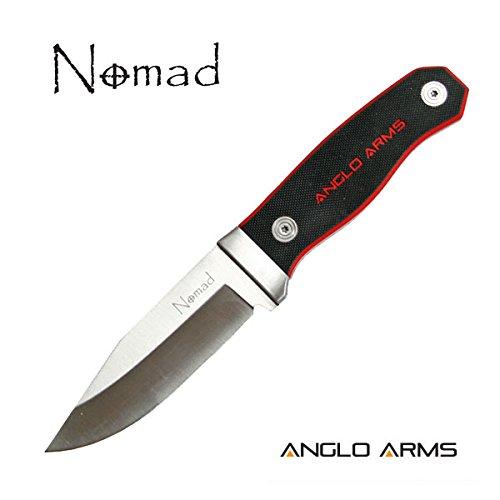 NOMAD – Rot und schwarzes Messer mit fester Klinge in Nylonhülle