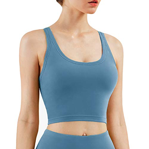 UOTJCNR Women Racerback Sports Bra Padded Seamless Crop Top Yoga...