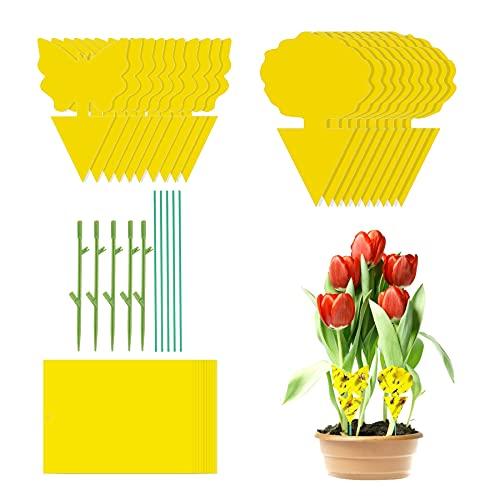 30 trampas amarillas adhesivas para insectos, trampas para moscas y plantas de interior, pegatinas para atrapar moscas, pegatinas amarillas adhesivas, trampas para moscas, trampas para insectos