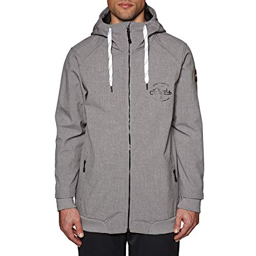 Planks Veste De Ski Reunion - Soft Shell Sports Gris (XL, Gris)
