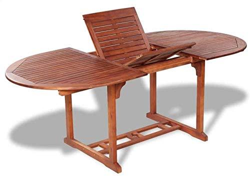 Table de Jardin Extensible, Table à Manger, Bois d'acacia