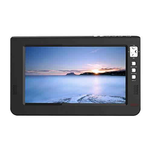 KLOP256 TV analógica Digital 9 Pulgadas 16: 9 Mini Led Negro HD Soporte para Auto en casa 1080p TFT DVBT2 con Control Remoto Avión B Televisión portátil Universal