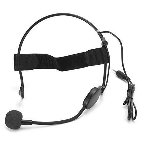FOLOSAFENAR Mini Mini Auricular Resistente al Sudor, micrófono Claer Sound, Gancho para la Oreja, Diadema, micrófono con Cable, grabación de 360 Grados, micrófono, para Profesores, guías, para la