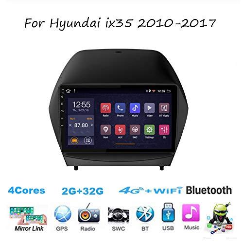 TypeBuilt Für Hyundai Ix35 2010-2017 Android 8.1 Autoradio Radio Navigationssystem Gürtel DAB+ Digitalradio Bluetooth USB Mirrorlink Sygic GPS Verkehrsinfo Navigation,4cores,2G+32G