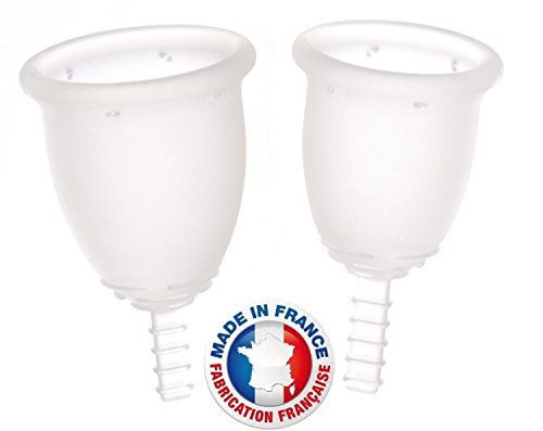 LOT de 2 FLEURCUP - coupe menstruelle: 1 petite Taille + 1 grande Taille Fabrication 100% française.