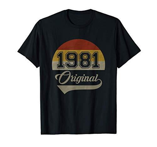 Vintage 40. Geburtstag Original 1981 Mann Frau Geschenk T-Shirt