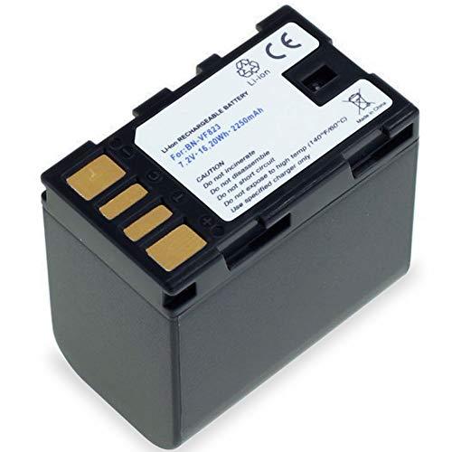 subtel® Batería Premium Compatible con JVC GY-HM100 GS-TD1 GZ-MG120 -MG130 -MG275 -MG330 -MG340 -MG465 -MG530 GZ-HD7 GZ-MS95, BN-VF808 BN-VF815 BN-VF823 2250mAh bateria Repuesto Pila