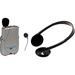 200 hours of battery life, Adjustable tone and volume control Accommodates a variety of earphone and headphone options Use with neckloops and telecoil-equipped hearing aids Amplifies sound for better understanding Includes: (1) PKT D1 amplifier, (1) ...