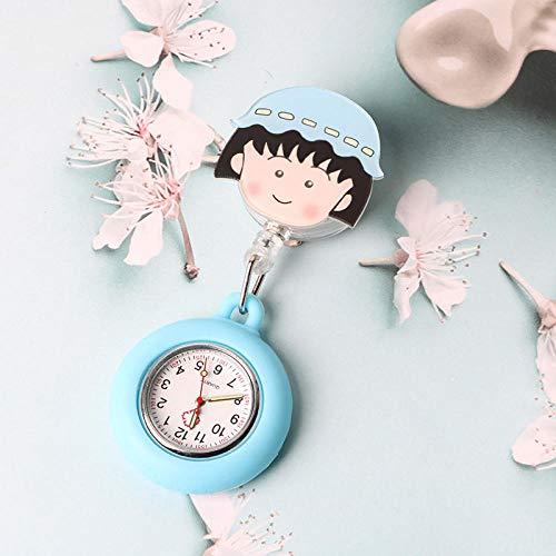 Relojes Silicona Enfermera,Reloj de Bolsillo del Doctor de Las Mujeres, Reloj de Bolsillo Luminoso del tirón del silicón-11,Reloj Bolsillo de Broche en Silicona