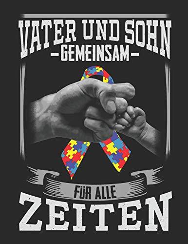 Vater und Sohn Gemeinsam für alle Zeiten: Notizbuch A4 Kariert Lustig Geschenk Papa Vater Autismus Kinder Sohn Tochter Autist