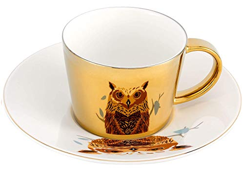 Mirror Owl Cup and Saucer Set